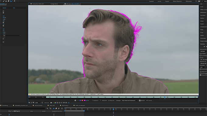 Rotoscoping in After Effects